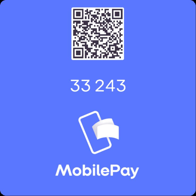 Nyt MobilePay-nummer 33243